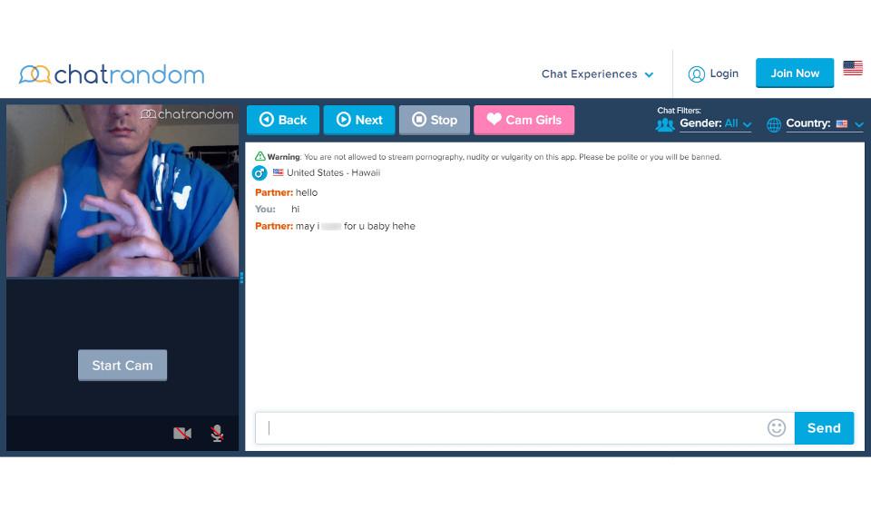 Chatrandm Video chatting