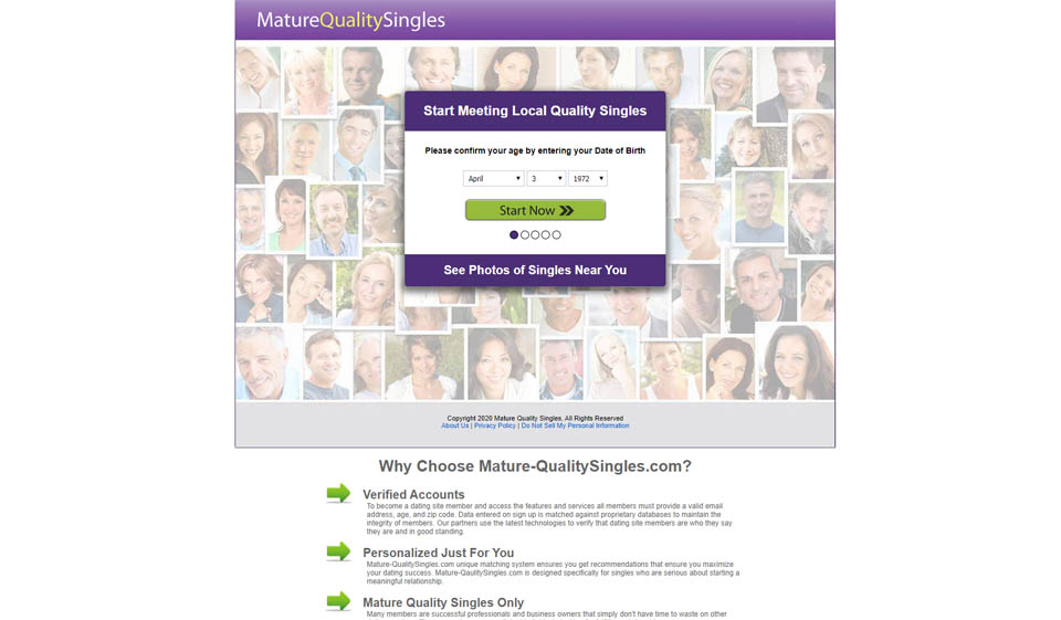 Mature Quality Singles review 2021